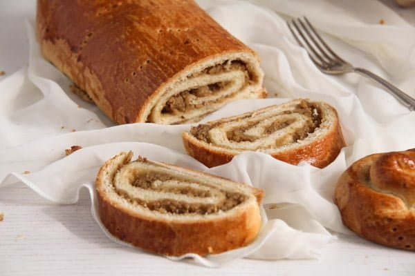 Traditional Hungarian Pastry Rolls with Walnut Filling
